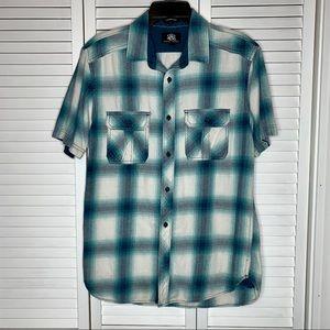 Rock & Republic flannel short sleeve shirt sz med